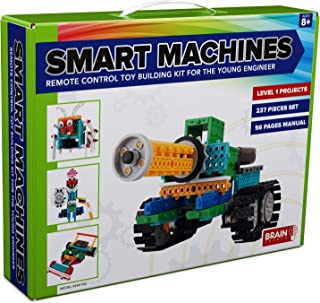 4 in 1 RC Robot Kit for Kids and Adults, STEM Toy Making Set, Building Blocks, No Soldering Required, Model SM1702, Tank, Race Car (Medium to Hard Difficulty) (Renewed)