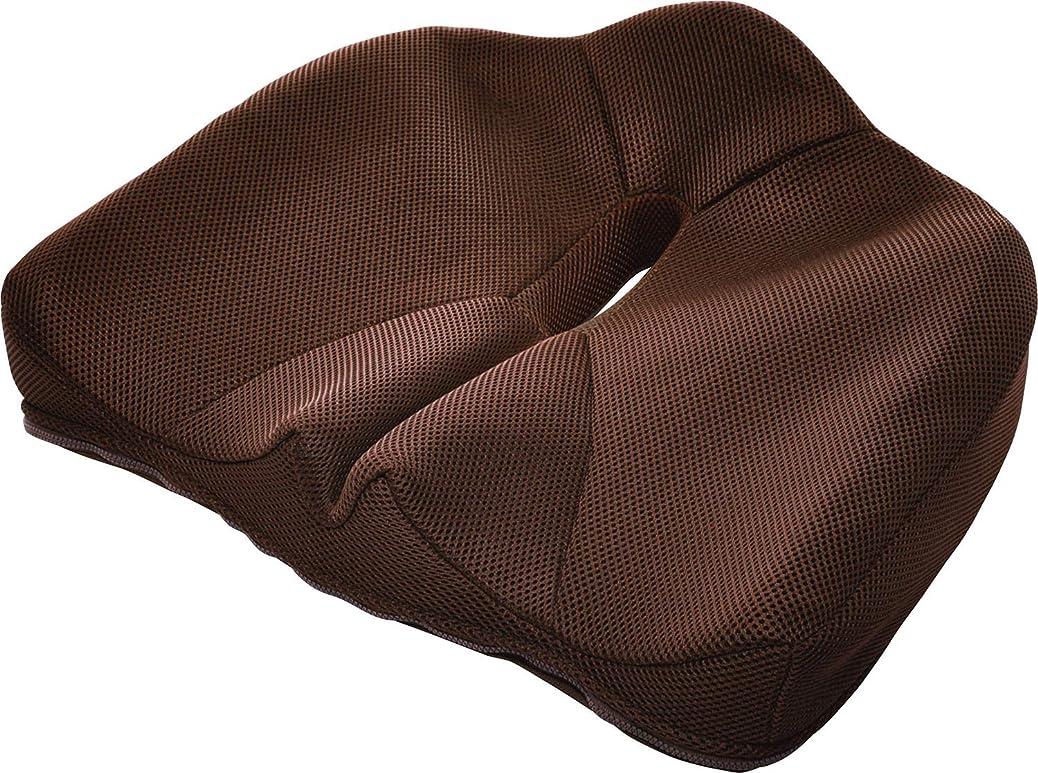 肩をすくめる指定憂慮すべきコジット 腰痛対策クッション ブラウン 幅43cm 正しい姿勢 骨盤 93451