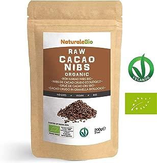 Nibs de Cacao Crudo Ecológico 200 g   100 % Puntas de Cacao Bio, Natural y Puro   Cultivado en Perú a partir de la planta Theobroma cacao   Rico en antioxidantes, minerales y vitaminas   NATURALEBIO