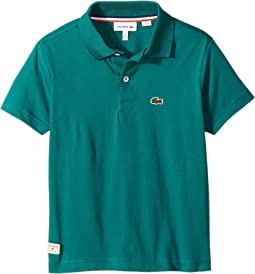 Lacoste Kids - Short Sleeve Solid Jersey Polo (Toddler/Little Kids/Big Kids)