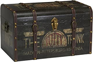 Household Essentials 9243-1 Large Vintage Decorative Home Storage Trunk – Luggage Style