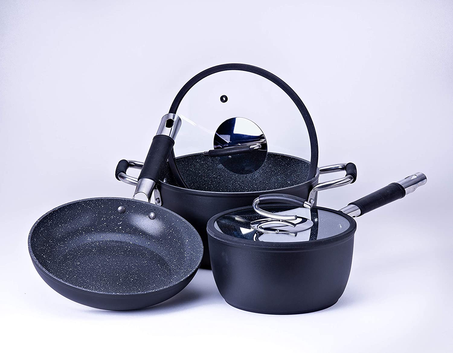 Recommended Vesuvio Ceramic Coated Nonstick Bundle: Animer and price revision Frying Cookware 3-Pack