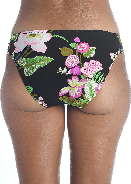 Trina Turk Women's Shirred Side Hipster Pant Bikini Swimsuit Bottom