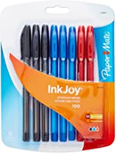 Paper Mate InkJoy 100ST Ballpoint Pen, Medium Point, Business Colors, 8 Count