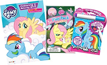 Bundle of 3 My Little Pony Coloring & Activity Items - Imagine Ink Magic Pictures Activity Book, Coloring and Activity Book with Stickers, and Grab & Go Play Pack