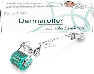 dermaroller Dermaroller FACES OF FEY - 192 ECHTE NADELN- professionelles Microneedling für zuhause - Nadelroller 0,5 mm für Gesicht und Körper