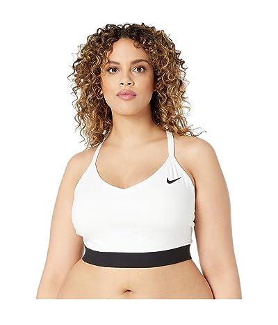 Nike Plus Size Indy Bra (White/Black/Black) Women