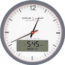 Alfajr Rounded Wall Clock, Analog-Digital CR-23 - White