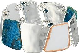 Robert Lee Morris Silver and Patina Magnetic Bangle Bracelet