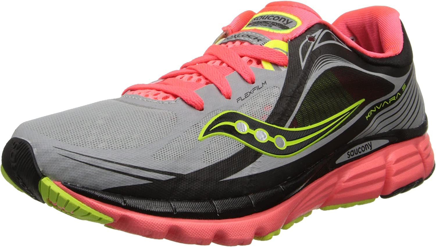 Saucony Women's Kinvara 5 ViziGlo Running shoes, 5.5 M US