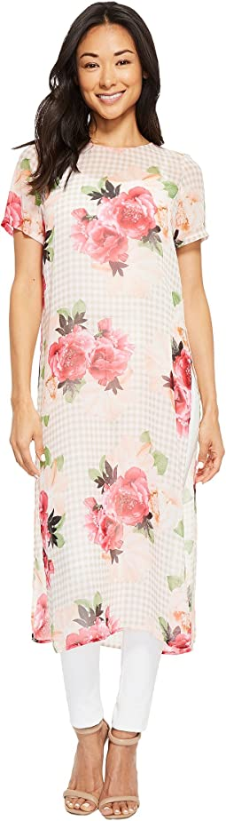 Calvin Klein - Short Sleeve Long Printed Tunic