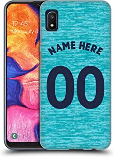 Custom Customized Personalized Newcastle United FC NUFC Third Kit 2018/19 Crest Hard Back Case Compatible for Samsung Galaxy A10e (2019)