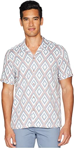 Bloo Short Sleeve Large Diamond Print Shirt