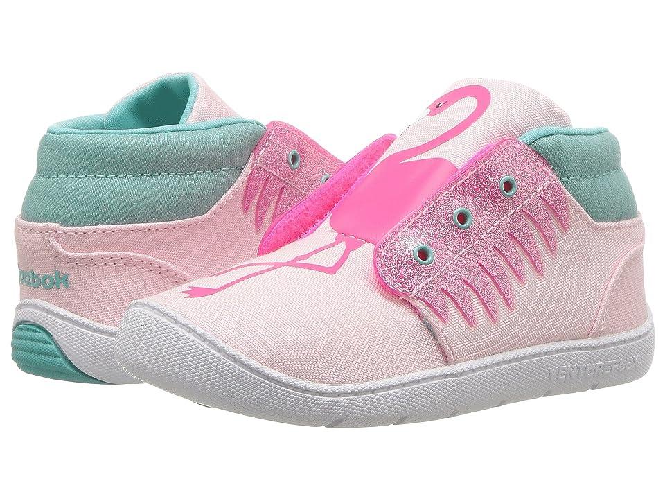 Reebok Kids Venture Flex Chukka (Infant/Toddler) (Luster Pink/Acid Pink/White/Turquoise) Girls Shoes