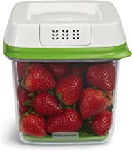 Rubbermaid FreshWorks Produce Saver Food Storage Container, Medium, 6.3 Cup, Green