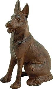 Cast Iron German Shepherd Dog Paperweight - Animal Figurine