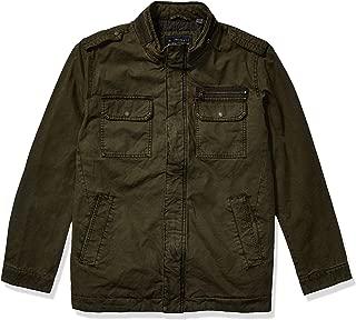 Men's Washed Cotton Two Pocket Military Jacket (Regular...