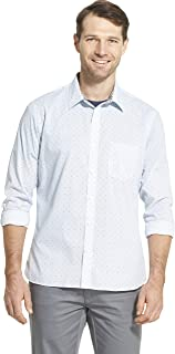 Men's Slim Fit Never Tuck Long Sleeve Button Down Print Shirt