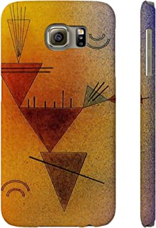 Slim Cell Phone Case is Compatible with/Fits Samsung Galaxy S6 Durable and Impact Resistant with Artwork by Wassily Kandinsky (Little Game 1928)