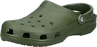 Crocs Classic Clog Comfortable Slip On Casual Water Shoe, Army Green, 15 M US Women / 13 M US Men
