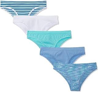 Amazon Brand - Mae Women's Seamless Cheekini Underwear, 5 pack