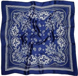 Vanlinker Vintage Bandanas Square Multi-Purpose Scarfs for Men Women Silk Like Scarf Neckerchief Protective Coverage VL9549