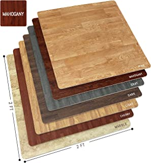 Sorbus Wood Grain Floor Mats Foam Interlocking Mats Tile 3/8-Inch Thick Flooring Wood Mat Tiles Borders - Home Office Play...