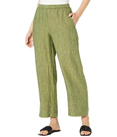 Eileen Fisher Ankle Length Pants in Washed Organic Linen Delave