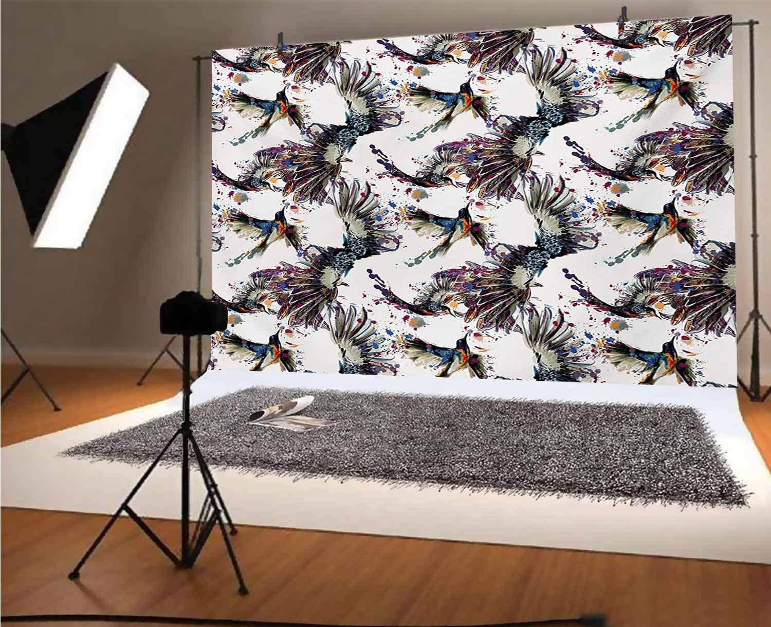 Modern 15x10 FT Vinyl Backdrop PhotographersWatercolor Paintbrush Stylized Lemons with Murky Hazy Effects Artful Image Background for Party Home Decor Outdoorsy Theme Shoot Props