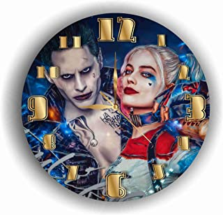 Art time design studio Harley Quinn and Joker Quiet Sweep Movement Wall Clock Decorative Battery Operated 11,8 Inch – for Devoted Fans of DC Comics.