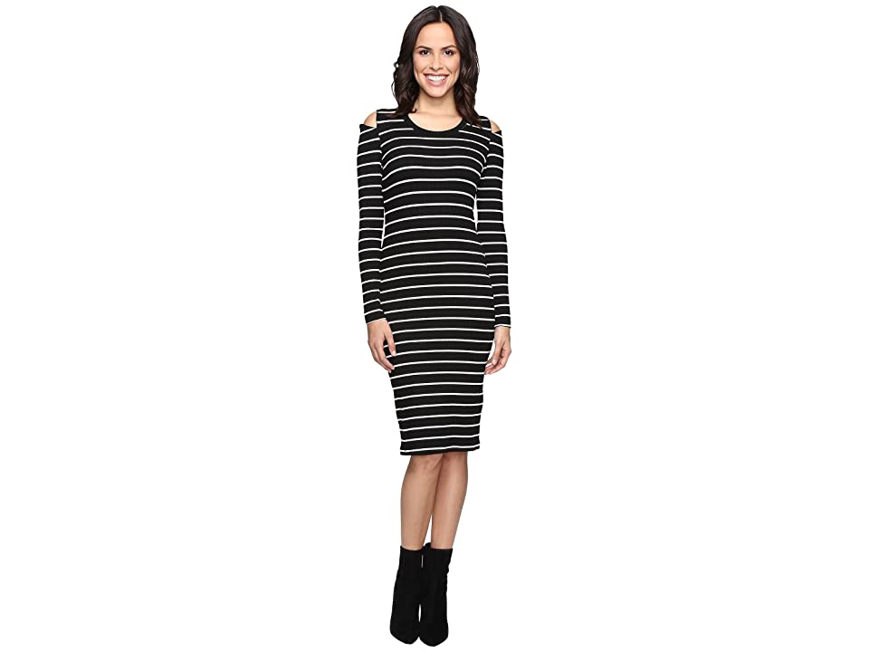 LNA Tay Dress (Cream/Black Stripe) Women