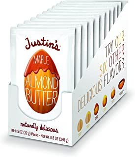 Maple Almond Butter Squeeze Packs, Gluten-Free, Non-GMO, Responsibly Sourced