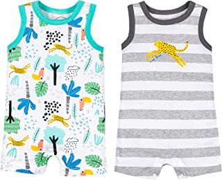 LAMAZE Baby Boys 2 Pack Rompers