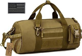 ArcEnCiel Tactical Duffle Bag Men Gym Pack Military Molle Shoulder Bags Shoes Storage Sports Handbag with Patch (Coyote Br...