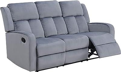 AC Pacific Dale Fabric, Sofa, Grey