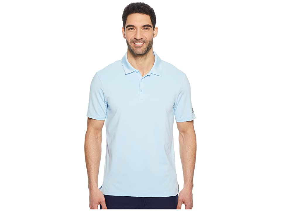 adidas Golf Ultimate Solid Polo (Clear Sky) Men
