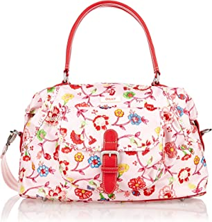 Oilily Luxurious Carry All Medium Top Handle Floral Hand Bag - Light Rose