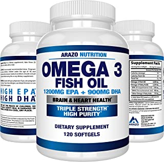 Omega 3 Fish Oil 2250mg | HIGH EPA 1200MG + DHA 900MG Triple