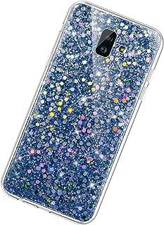 Funda Compatible con Samsung Galaxy J6 Plus 2018.KunyFond Lentejuela Brillo Brillante Clear Silicona Suave Carcasa Color P...
