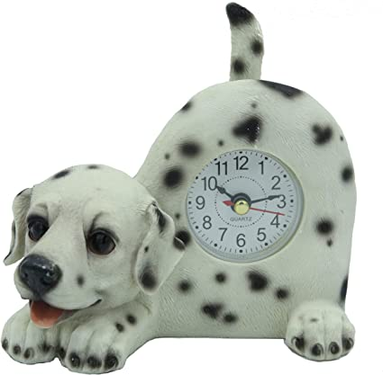 AIE Dog//Cat Desk Clock with Wagging Tail 6 Wx5 H GF93 Small Maltese
