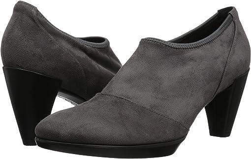 Titanium/Black Textile/Calf Leather