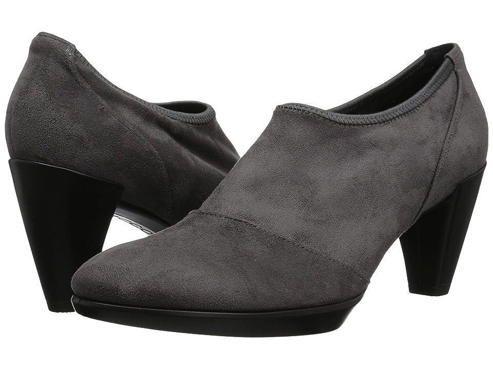 ECCO Shape 55 Plateau Shootie (Titanium/Black Textile/Calf Leather) Women
