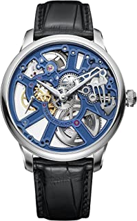 Mens Maurice Lacroix Masterpiece Skeleton Blue MP7228-SS001-004