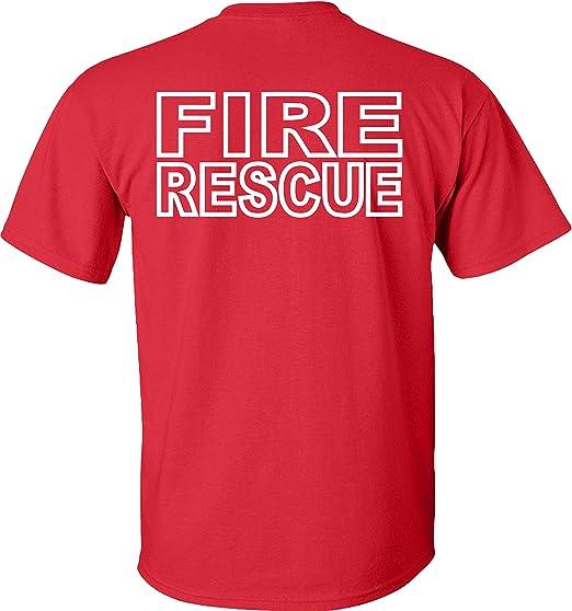 Fire Fighter Rescue servir sans manches T Shirt