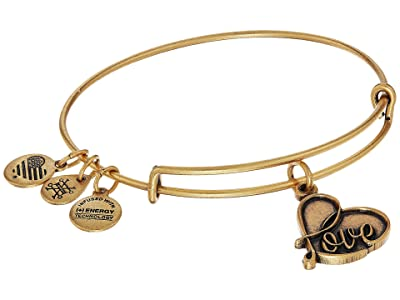 Alex and Ani Path Of Symbols Love IV Charm Bangle (Rafaelian Gold Finsih) Bracelet
