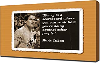 Mark Cuban Quotes 5 - Canvas Art Print