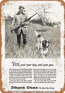 Mariner 1960 Ithaca Shotguns Vintage Look Aluminum Funny Aluminum Funny Art Decor Movie Poster Vintage Tin Sign Dorm Game Room 12 X 8 in