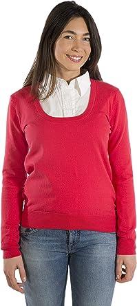 MY BASIC Pullover Donna Collo Ampio Cotone Stretch