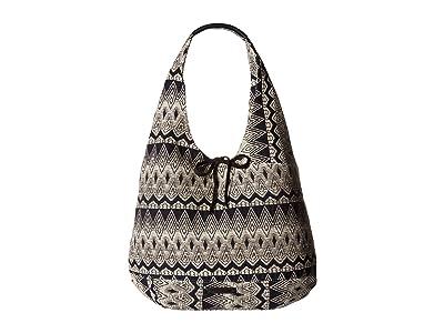 Lucky Brand Mia Hobo (Black/White 1) Hobo Handbags