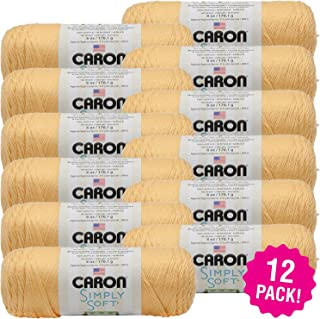 Caron 98076 Simply Soft Heather Yarn-Woodland, Multipack of 12, Pack